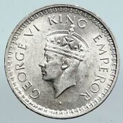 1945 L India States Uk George Vi Antique Old Silver 1/2 Rupee Indian Coin I90026