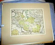 Antique Map Persia Turkey Turkish Speaking Countries Of Asia By Tirion C.1760