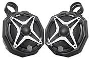 6.5 Roll Cage Tower Speakers For Polaris General+pod Enclosures+white Grills