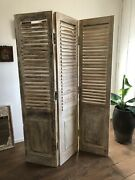 Made To Order Hand Carved Indian 3 Panel Screen Bleached Screen Room Divider