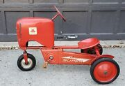 Amf Super Chain Drive Metal Pedal Tractor Toy Vintage 1950s 50s