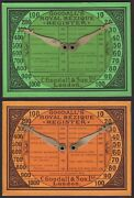 2 X Old Antique Goodall Bezique Registers Playing Cards Game Markers Scorers 14