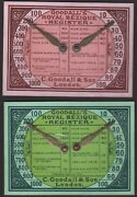 2 X Old Antique Goodall Bezique Registers Playing Cards Game Markers Scorers 17