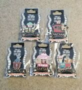 Disney Dsf Dssh Lady And The Tramp Ice Cream Train Cars Set Of 5 Pins Le 300 2013