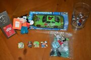Disney's Goofy Lot Of Collectibles Car, Glass, Pins, Plushes, Picture Frames