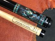 Jacoby Pool Cue With A Jacoby Edge Hybrid Ultra Pro Shaft Shaft. Wrap-less Cue