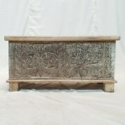 Made To Order Solid Wood Carved Storage Blanket Box Coffee Table Chest Natural S