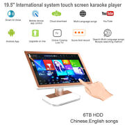 6tb Hdd 19.5'' Dual System Touch Screen Karaoke Player,chinese,english Songs
