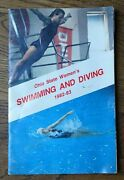 1982-83 Ohio State Womenand039s Swimming And Diving Media Guide Badly Water Stained