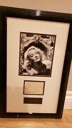 Marlene Dietrich Signed Framed Autograph And Picture