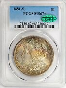 1881-s Morgan Dollar Pcgs Certified Ms67+ Cac With Great Color