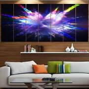 Designart And039blue Explosion Of Paint Dropsand039 Modern Floral Oversized