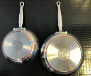 2 Kitchenaid 5-ply Copper Base 10 Inch And 8 Inch Stainless Steel Frying Pans