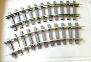 G Scale - Lionel Brass 4' Radius Curve Track- 2 Sections- Exc- Hb14