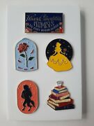 Nerdy Ink Limited Edition Beauty And The Beast Enamel Pins Set Of 5