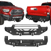 Full Width Front Or Rear Bumper Bars W/led Light Fit 2016-2021 Toyota Tacoma