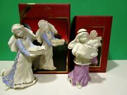 Lenox First Blessing Fruit Market Maiden And Bakers Daughter Nativity New In Box