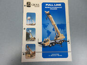 Grove Full Line Mobile Hydraulic Cranes Brochure 12 Pages Very Nice