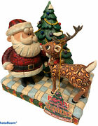 Enesco Rudolph The Red Nosed Reindeer Andsanta Jim Shore 2007 Collectible Htf Rare