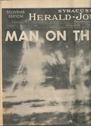 Man On The Moon Complete Syracuse Herald-journal Newspaper 7-21-69 Mw