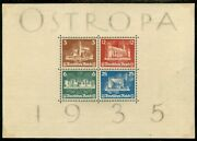 Edw1949sell Germany 1935 Sc B68 Fresh And Vf Original Sulfuric Gum W/ Stamps Nh