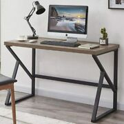 47 Inch Industrial Home Office Desk Vintage Sturdy Study Writing Desks Computer