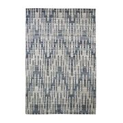6and039x9and0392 Pure Silk And Textured Wool Zigzag With Graph Design Hand Made Rug R66485