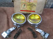 1940and039s-1950and039s K-d Junior Fog Lamps With Bumper Mount Brackets Kit