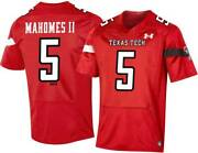 Texas Tech Red Raiders Patrick Mahomes 5 Under Armor Menand039s Red Game Jersey