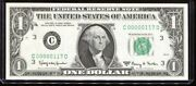 1963-a 1 Federal Reserve Note Fancy Low 3 Digit Serial C00000117d Uncirculated