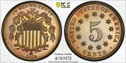 1878 Pcgs And Cac Pr67+ Shield Nickel Colorful Toning