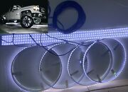 Led Wheel Well Ring And Led Underglow Light Kit Super Bright Pour White Dual Led