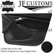 Black Stitch 2x Front Door Trim+capping Covers For Ford Focus Mk3 11-14 5dr Jf1