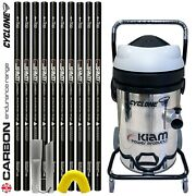 Kiam Cyclone S Gutter Vacuum Cleaner And 40ft 12m Carbon Fibre Pole Kit System