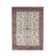 5and0396x7and0398 Sarouk New Zealand 300 Kpsi Wool Floral Design Hand Knotted Rug R66456
