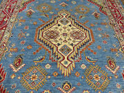 8and039x10and039 Blue Finest Quality Peshawar Traditional Oriental Hand Knotted Wool Rug