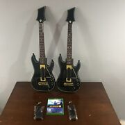 Guitar Hero Live Xbox One Game 2 Guitars 2 Straps 2 Dongles Used Tested