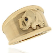 Tapered Cigar Band Elephant Ring In 18k Yellow Gold