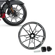 Front Wheel Rim Hub Fit For Harley Touring 08-up 18/21/23/26/30and039and039 Single Disc