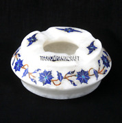 3 Marble Smoking Ashtray Lapis Floral Arts Inlay Marquetry Gift For Men H3685