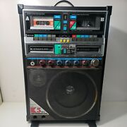 Vintage Sanyo Boombox Pat-k5 Double Cassette And 8 Track 1568