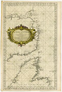 Rare Antique Print-canada-gulf Of St Laurence-belle Isle-bellin-1753