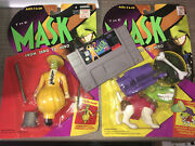 The Mask Super Nintendo System Snes 1996 Jim Carrey Game And Action Figures