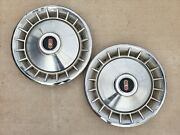 Vintage 1965 Oldsmobile 16 Hubcap Wheelcover Center Cap Pair Olds Free Shipping