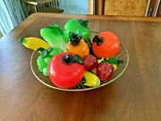 Vintage Estate Lot Of 12 Murano Glass Fruit And Vegetables Life Size Freeship