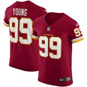 Washington Football Team Chase Young 99 Nike Official Nfl Vapor Elite Jersey