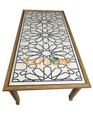 30x60 Marble Rectangle Dining Table Top With 29 Wodden Stand Decorative W022