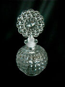 Antique Clear Thick Glass Decorative Perfume Bottle And Fancy Matching Stopper Lid