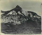 1989 Press Photo Lava-topped Sheep Rock Of John Day Fossil Beds State Park