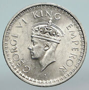 1945 L India States Uk George Vi Antique Old Silver 1/2 Rupee Indian Coin I90307